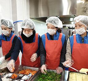 발달장애인을 위한 점심시간 정기 배식봉사